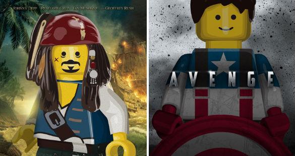 Pôsteres de filmes em LEGO