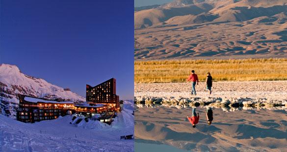 Combinação de neve e deserto