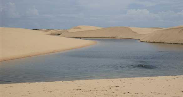 Lagoas e cachoeiras no Maranhão