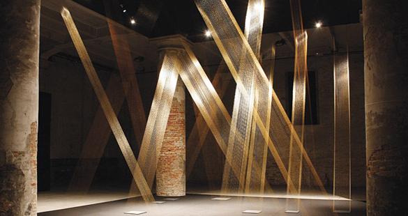 Exposição Espaço Imantado de Lygia Pape