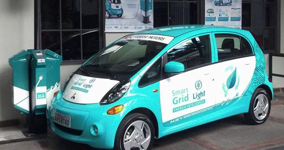 Light apresenta carro elétrico i-MiEV