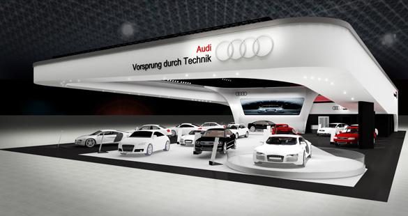 Audi revela seu estande no Salão do Automóvel 2012