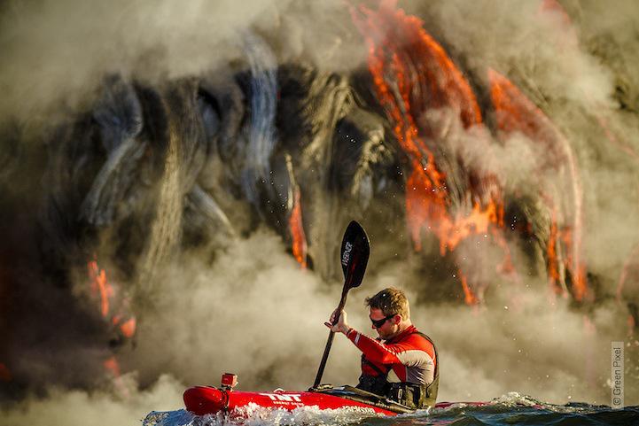 Kaiak :: remando através de Lava no Havaí