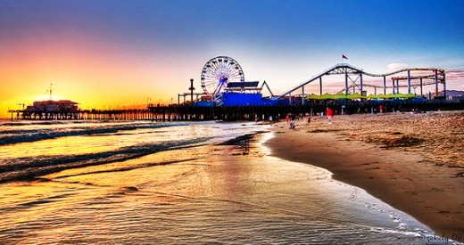 Pacific Park in Santa Monica by Szeke (flickr)