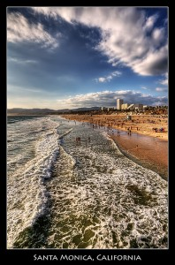 Santa Monica Beach by Szeke