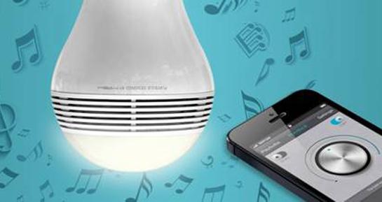 Lâmpada que toca música