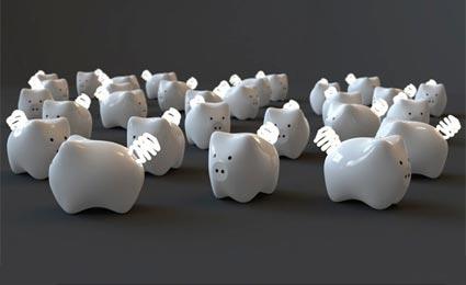 Luminária de cofrinho lembra que também devemos poupar energia