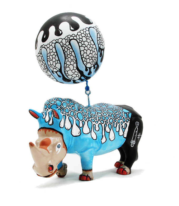 Exposição Toy Rhinos