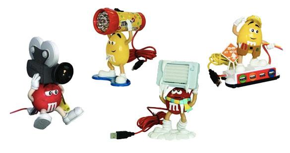 Gadgets dos M&M's