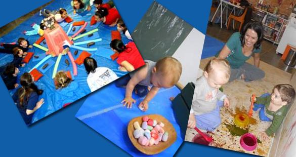 Oficinas de férias para bebês e crianças