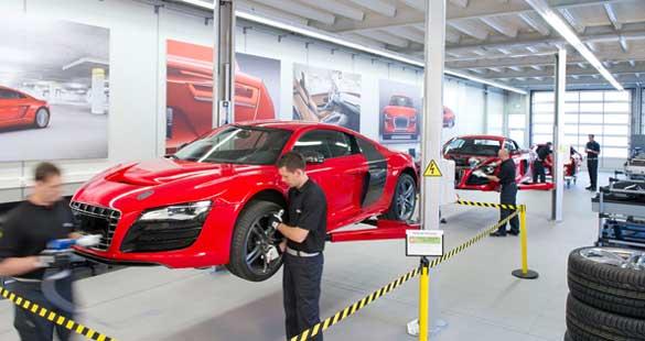 Audi R8 elétrico em construção