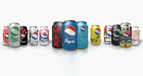 Redesenhando latas de Pepsi