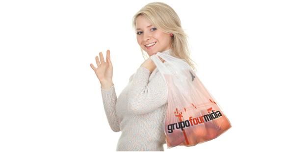 Mídia em sacolas biodegradáveis