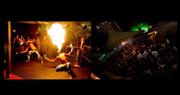 Festa transforma São Paulo em selva amazônica