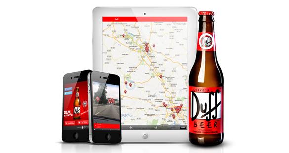Cerveja DUFF no celular