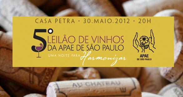 APAE promove 5º leião de vinhos