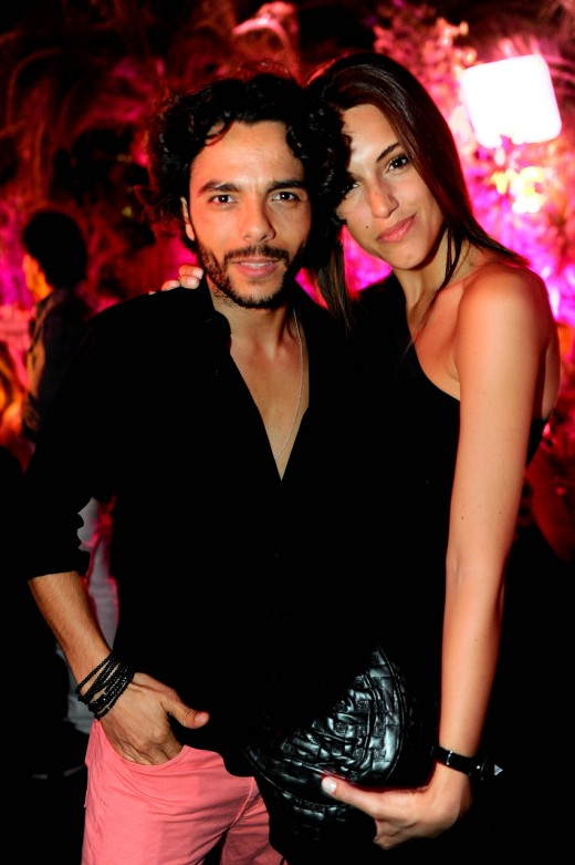 DJ Mitch LJ e Daniella Faccinelli na Black & Gold by Posh em Cannes