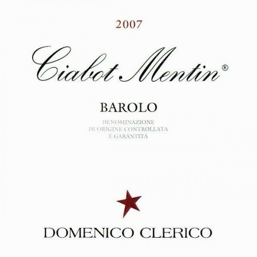 Rótulo do sensacional Barolo Domenico Clerico Ciabot Mentin Ginestra 2007