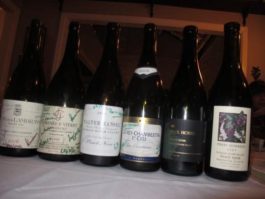 Três grandes Pinot Noir da Borgonha e três da California