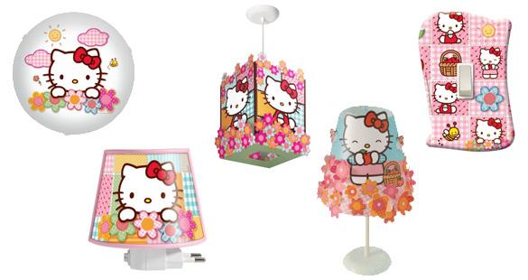 Luminárias e abajures Hello Kitty