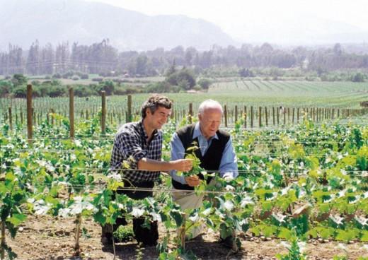 Eduardo Chadwick ao lado de um de seus grandes mentores, Robert Mondavi