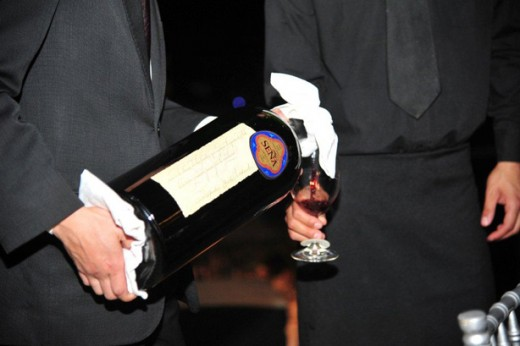 Garrafa Double Magnum (3 litros)  do Seña 1996 servido no Jantar de Gala após a solenidade de Inauguração do Biodynamic Centre