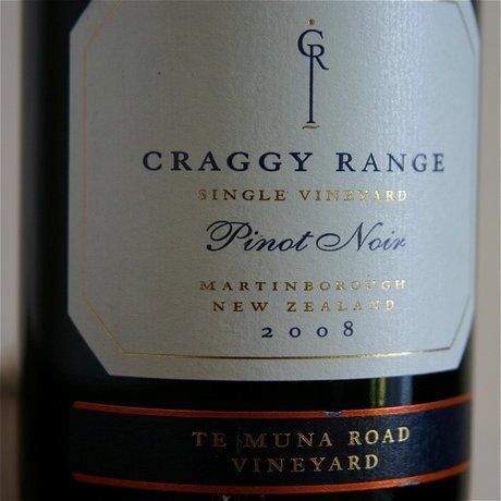 O elegante Craggy Range Single Vineyard Te Muna Road 2008