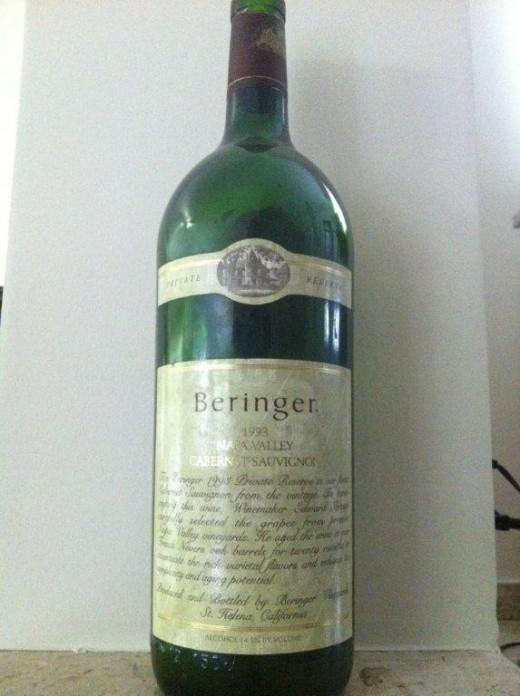 O impressionante e maduro Beringer Cabernet Sauvignon Private Selection 1993