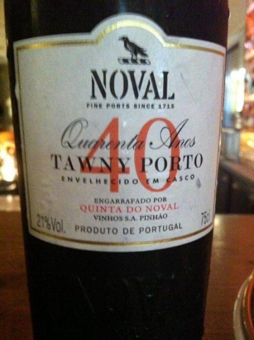 O provocante e deliciosoa Quinta do Noval Tawny Port 40 anos