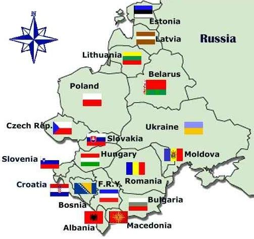 Leste Europeu - mapa
