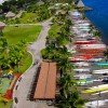 Outrigger Canoes in Papeete, Tahiti