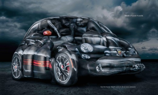 Fiat 500 Abarth Recreated With Women