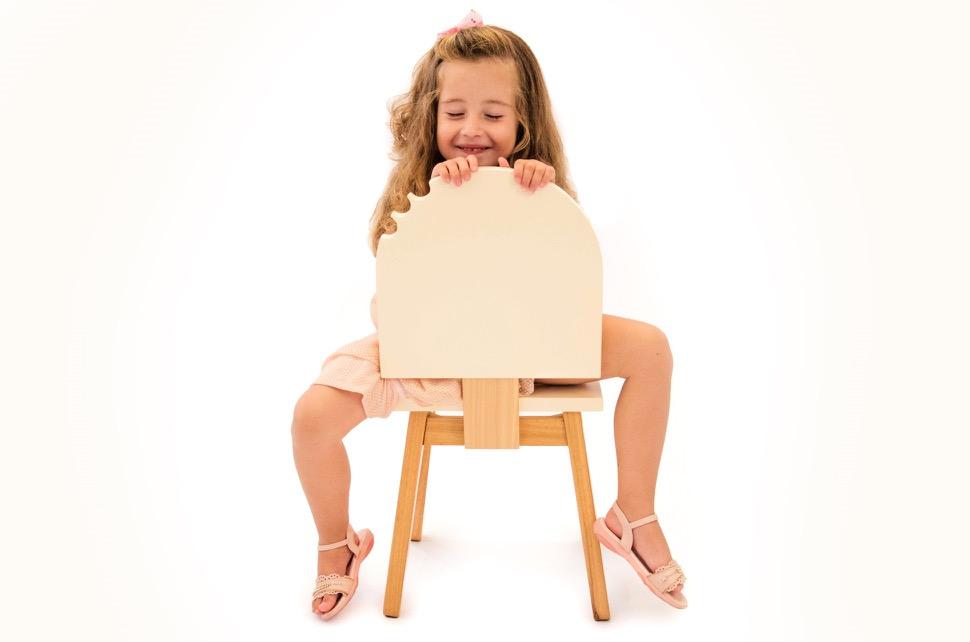 Cadeira em forma de picolé