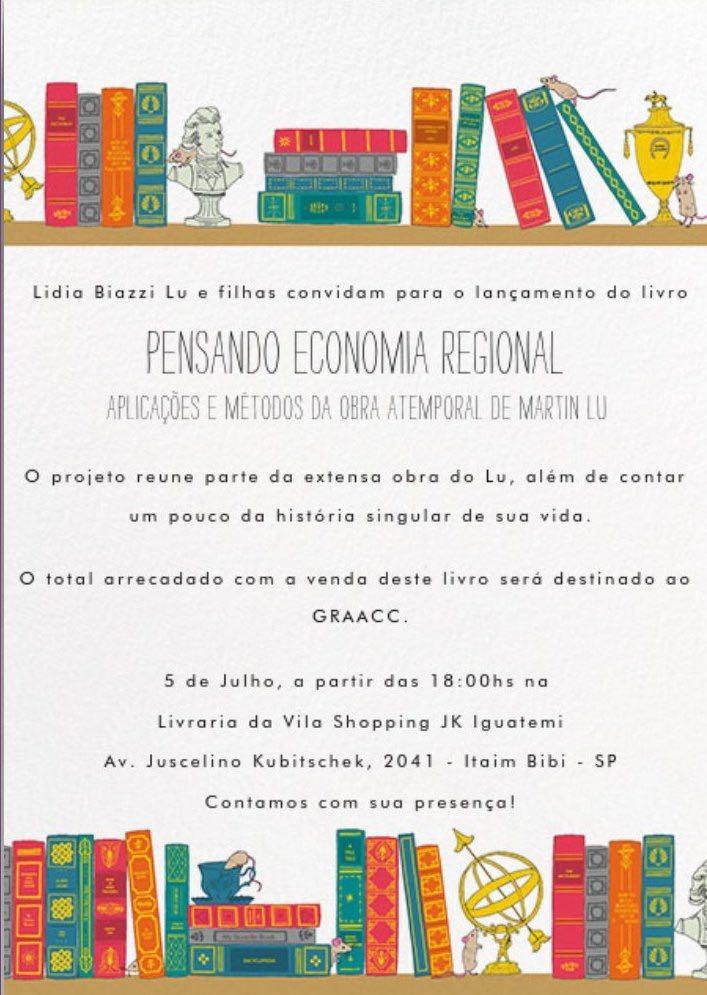 """Lançamento do livro """"Pensando Economia Regional"""""""